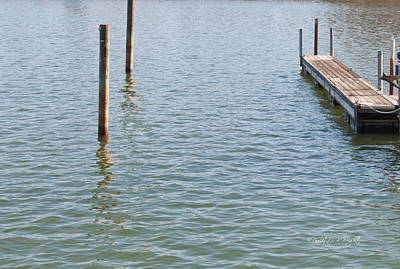Photograph - Reflections Of A Floating Dock by Paulette B Wright