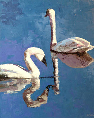 Painting - Reflections Of A Kiss by Sylvia Miller