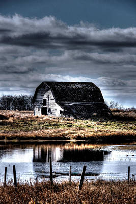 Reflections Of Abandoned Barn Original by Andrea Lawrence