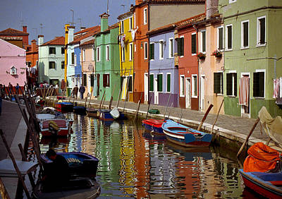 Photograph - Reflections Of Burano by Jenny Setchell