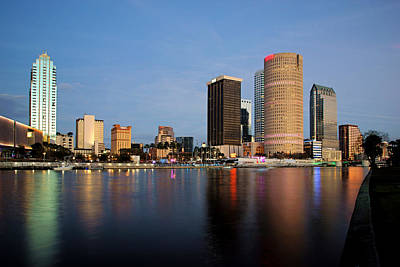 Photograph - Reflections Of Downtown Tampa by Daniel Woodrum