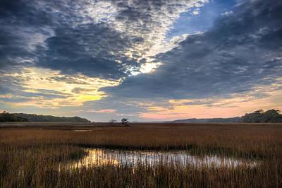Edisto Island Photograph - Reflections Of Edisto Island by Walt  Baker