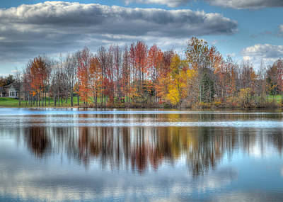 Photograph - Reflections Of Fall by Alan Toepfer