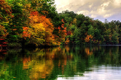 Photograph - Reflections Of Fall At Lake Santeelah by Greg and Chrystal Mimbs