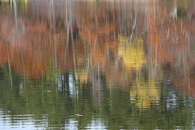 Photograph - Reflections Of Fall Nh by Jeffrey Akerson