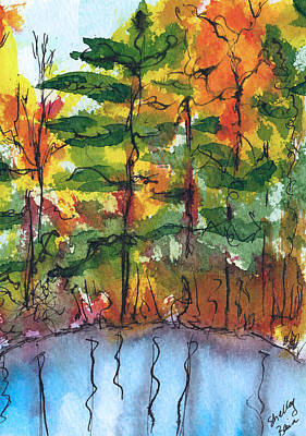 Painting - Reflections Of Fall by Shelley Bain