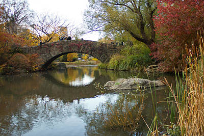 Art Print featuring the photograph Reflections Of Gapstow Bridge by Jose Oquendo