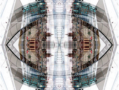 Digital Art - Reflections Of Gateshead 1 by Stephanie Grant