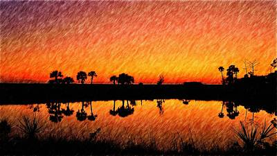 Photograph - Reflections Of Golden After Glow by Richard Zentner