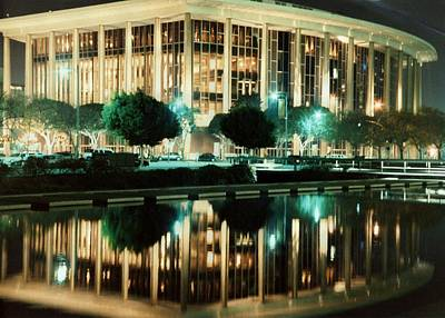Reflections Of L.a. Music Center Art Print by Maggie  Cabral