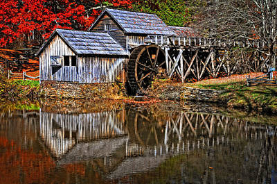 Photograph - Reflections Of Mabry Mill by Lynn Bauer