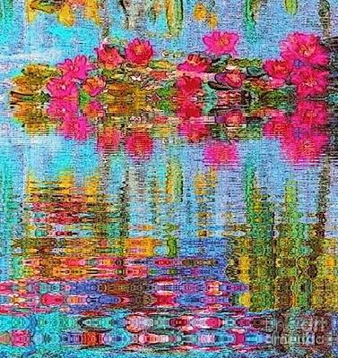 Reflections Of Monet Art Print by Holly Martinson