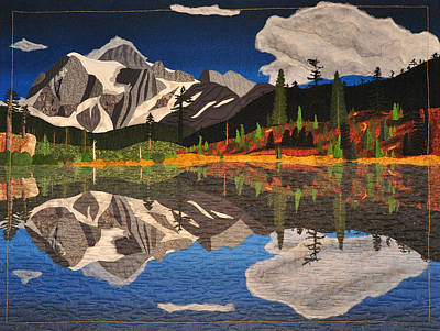 Tapestry - Textile - Reflections Of Mt.shuksan by Jo Baner