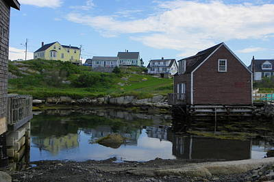 Photograph - Reflections Of Peggys Cove by Georgia Hamlin