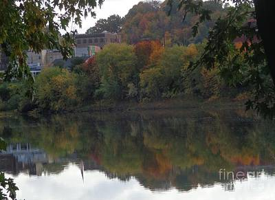 Reflections Of Pittston Art Print by Christina Verdgeline