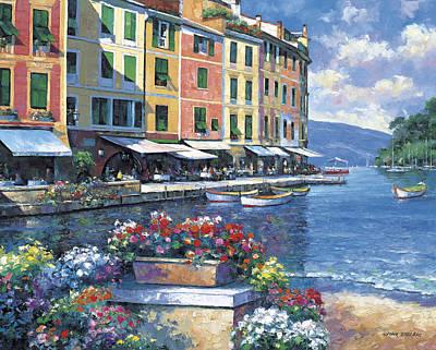 Portofino Painting - Reflections Of Portofino by John Zaccheo