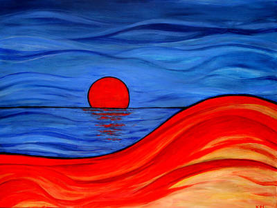Waterscape Painting - Reflections Of Southern Australia by Kathy Peltomaa Lewis