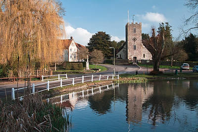 Photograph - Reflections Of St Marys Hampshire England  by Shirley Mitchell
