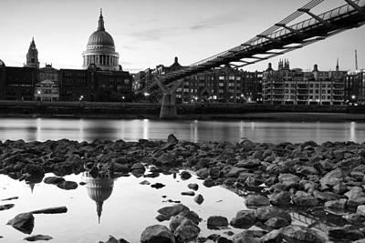 River Thames Photograph - Reflections Of St Paul's by Matthew Train