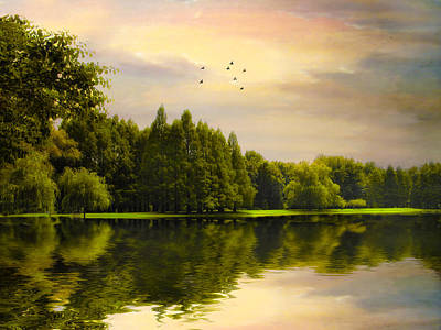 Greenery Digital Art - Reflections Of Summer by Jessica Jenney