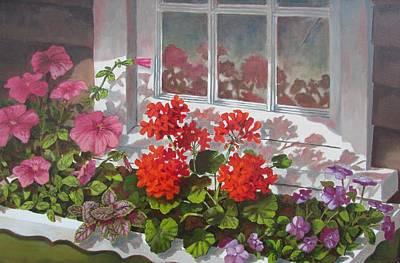 Painting - Reflections Of Summer by Tony Caviston