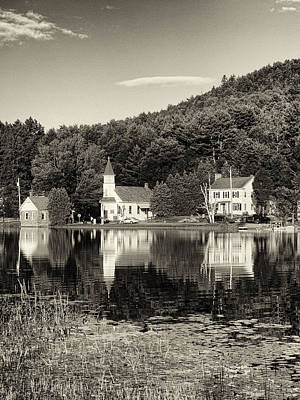Photograph - Reflections Of The Day Black And White by Joshua House