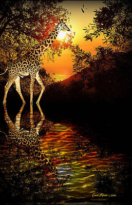 Photograph - Reflections Of The Giraffe by Ericamaxine Price
