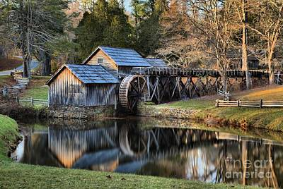Photograph - Reflections Of The Mabry Grist Mill by Adam Jewell