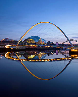 Photograph - Reflections Of The Millenium Bridge by Stephen Taylor