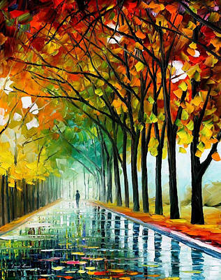 Free Painting - Reflections Of The Morning - Palette Knife Oil Painting On Canvas By Leonid Afremov by Leonid Afremov