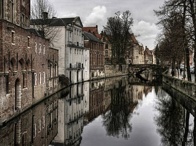 Bruges Photograph - Reflections Of The Past ... by Yvette Depaepe