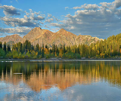 Reflections Of The Ruby Range In Lost Art Print