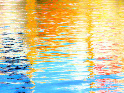 Reflections Of The Setting Sun Art Print