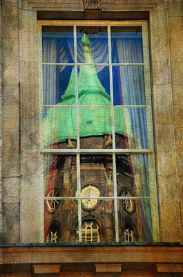 Photograph - Reflections Of Watch Tower Of Dublin Castle. Streets Of Dublin. Painting Collection by Jenny Rainbow