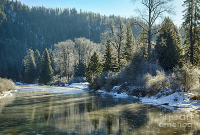 Photograph - Reflections Of Winter by Idaho Scenic Images Linda Lantzy