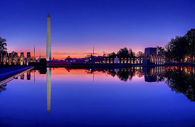 Reflecting Photograph - Reflections Of World War II by Metro DC Photography