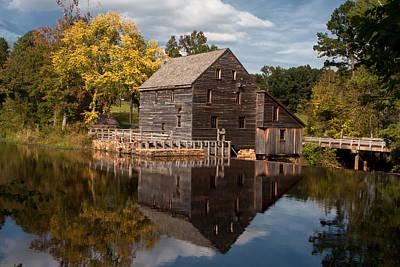 Yates Mill Photograph - Reflections Of Yates Mill by Carol Moniz