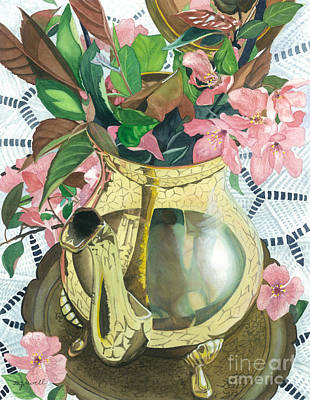 Painting - Reflections On A Brass Teapot by Barbara Jewell