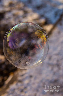 Photograph - Reflections On A Bubble by Jim McCain