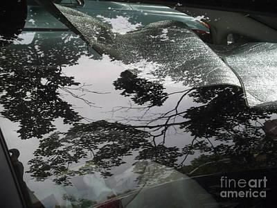 Photograph - Reflections On A Car - Dark by Miriam Danar