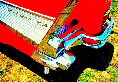 Reflections On A Chevrolet Bel Air Art Print by Don Struke