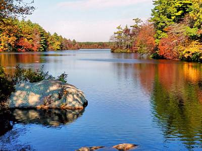 Art Print featuring the photograph Reflections On A Fall Day by Janice Drew