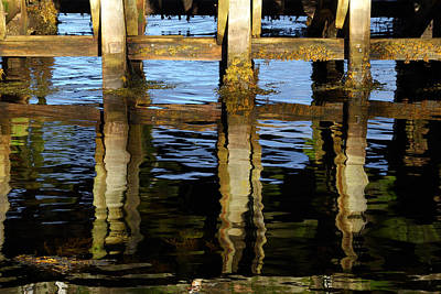 Photograph - Reflections On A Jetty by Wendy Wilton