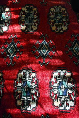 Persian Carpet Photograph - Reflections On A Persian Rug by Michele Myers
