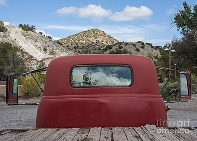 Photograph - Reflections On A Red Truck by Terry Rowe