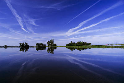 Photograph - Reflections On A Rice Field by Robert Woodward