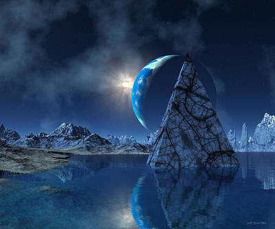 Digital Art - Reflections On An Empty Planet by Judi Suni Hall