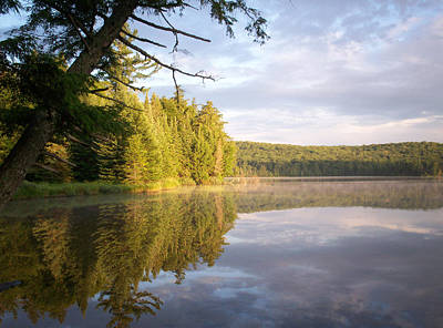 Reflections On Canisbay Lake Art Print