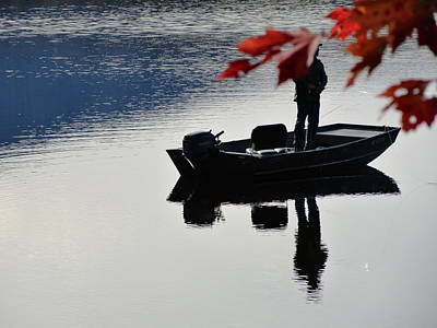 Photograph - Reflections On Fishing by Mike Breau