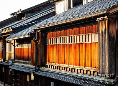 Reflections On Geisha Houses - Kanazawa City - Japan Art Print